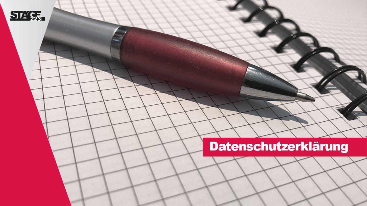 Datenschutz - stage223.com