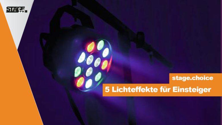 5 Lichteeffekte für DJ Einsteiger