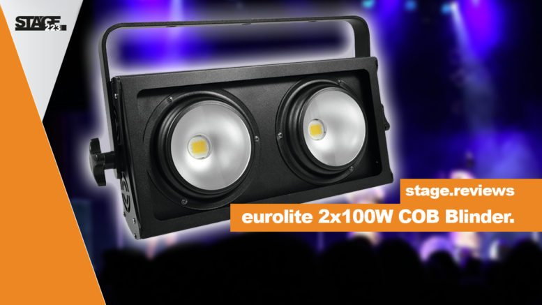 eurolite 2x100W COB LED Blinder - stage.reviews