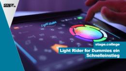 Light Rider Schnelleinstieg in die App