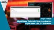 Light Rider mit DJ Software synchronisieren