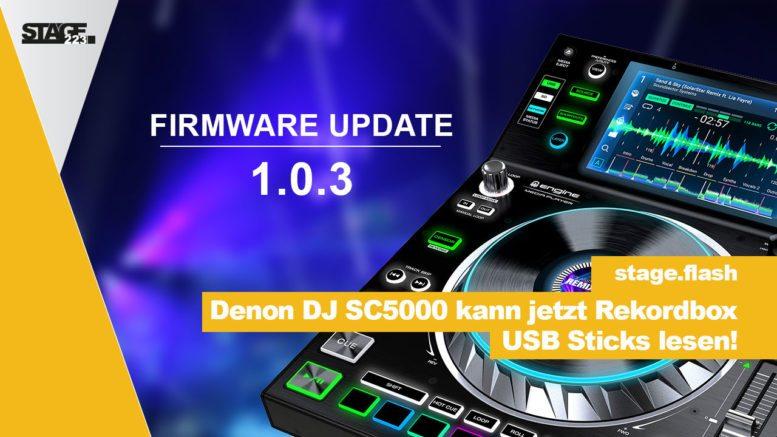 Firmware Update Denon DJ SC5000