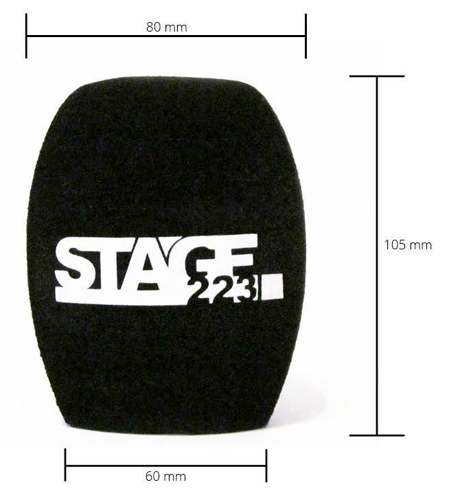 Die Maße des stage223- Handmikrofon Windschutz