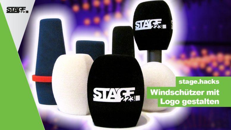 Mikrofon Windschutz mit Logo bedrucken