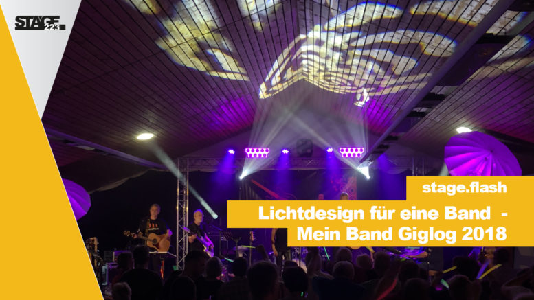 Lichtdesign für eine Band