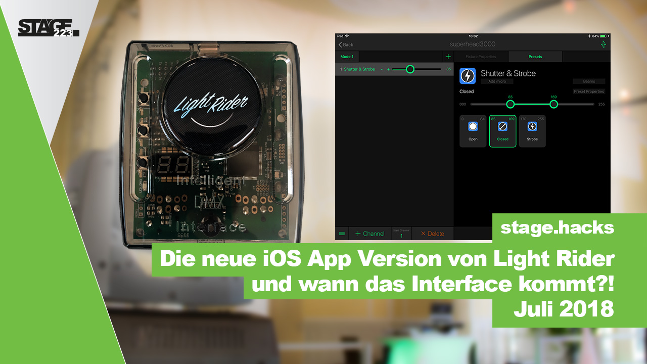 Wann kommt das Light Rider Interface.