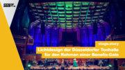 Lichtdesign der Düsseldorfer Tonhalle für den Rahmen einer Benefiz-Gala