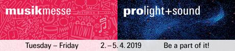 Neue Networking Area für Musikmesse 2019 und Prolight + Sound 2019 in Halle 4.1