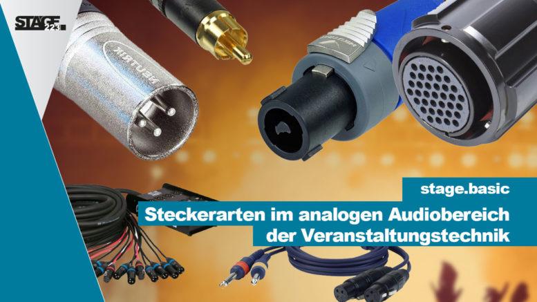 Steckerarten im analogen Audiobereich der Veranstaltungstechnik