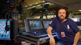 Setzte mit Hog 4-Konsole den Superstar Laura Pausini ins perfekte Licht: Licht-Designer Francesco De Cave