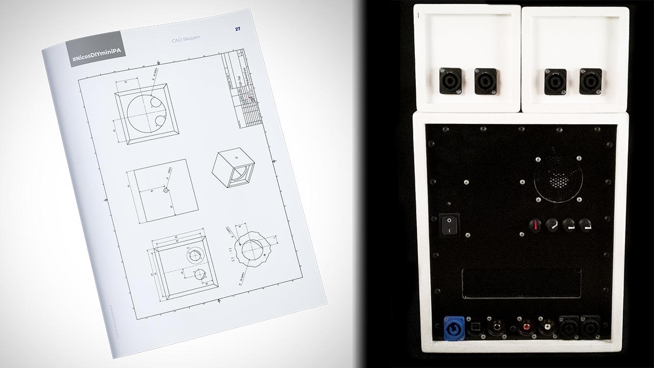 In der Anleitung sind professionell gezeichnete CAD Pläne vorhanden.