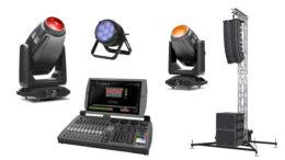 Artiste Monet, Proteus Rayzor 760, Smarty MaX (Fotos: ELATION Professional) BeamX.7 (Foto: LMP Lichttechnik) NX 2 Konsole (Foto: OBSIDIAN CONTROL SYSTEMS) PA-Tower (Foto: LMP Lichttechnik)