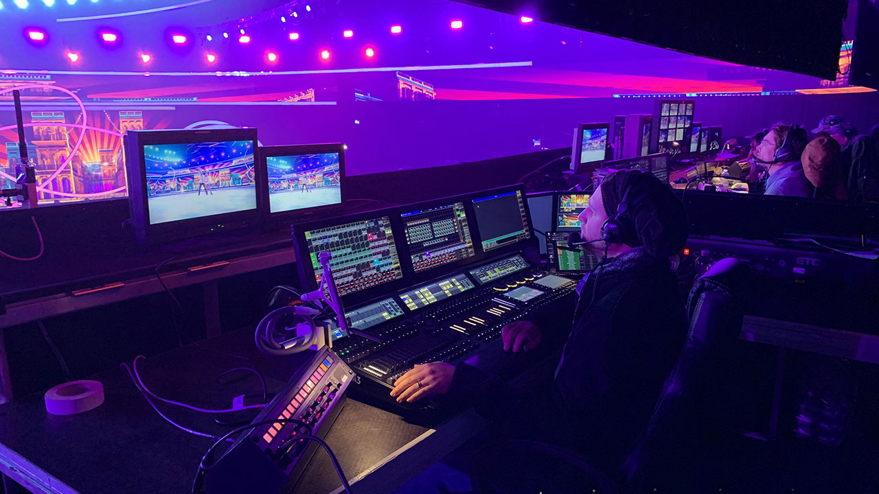 "Set von ""Dancing on Ice"", Video-Operator Dennis Muhl (Fotos: © Oliver Winkler)"