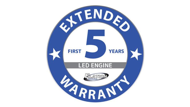 Ab sofort fünf Jahre Produktgewährleistung auf neueste LED Scheinwerfer von ELATION (Foto: © ELATION Professional)