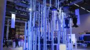 SGM-Messe-Stand auf der prolight + sound 2019: Mehr Equipment als beim ESC 2018.