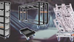Einfacher Transport von Bodenplatten, Traversenkreisen uvm. mit Admiral Stageing Essentials