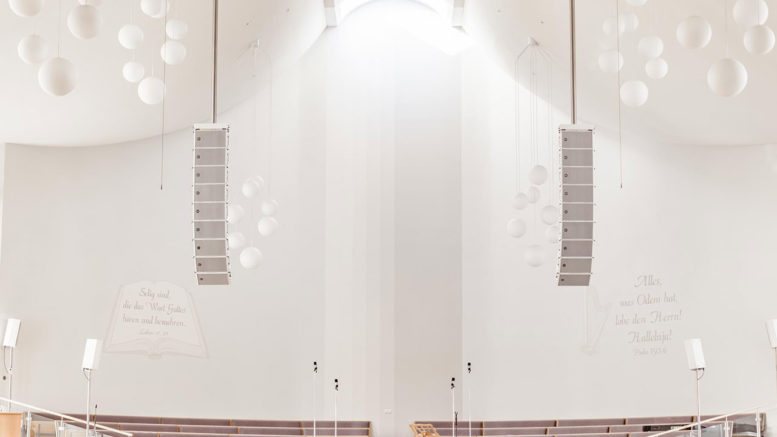 Evangeliums Christen Baptistengemeinde Paderborn erneuert Audioanlage in Gebetshaus mit RCF HDL 10-A Line Array System