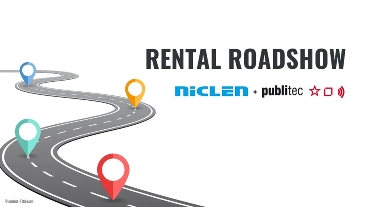 NicLen und publitec ab Ende Juni 2019 auf Rental Roadshow entlang der NicLen-Logistikroute
