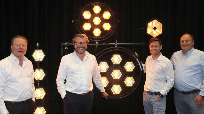 Foto (v.l.): Ralph-Jörg Wezorke (Lightpower), Herbert Marx (Lightpower), Dominik Zimakowski (Portman), Manfred Lütkemeyer (Lightpower)