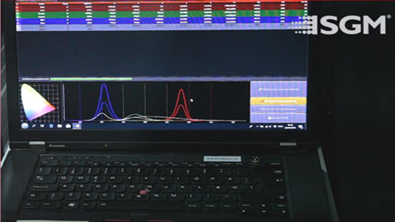 Die Kalibrierungssoftware von SGM (Foto: SGM)