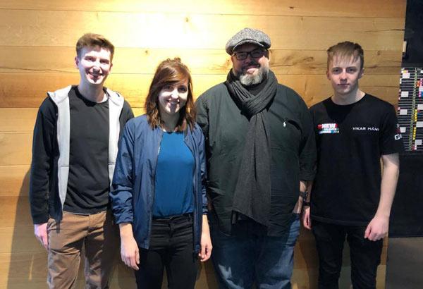 Die drei Finalisten des SGM New Talents Award 2018 mit Jerry Appelt.