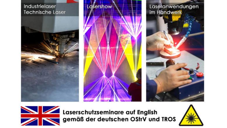 Laserschutzsiminare auf Englisch gemäß der deutschen OStrV und TROS