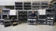 Einh Blick ins Lager der CONRAD Licht & Rigging Support GmbH.