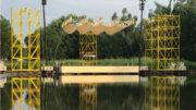 """Woodstock-Feeling in Miniatur und beim """"Fest"""" in Karlsruhe mit der patentierten Megaforce Bühne (Fotos: Megaforce/Jürgen Schurr)"""