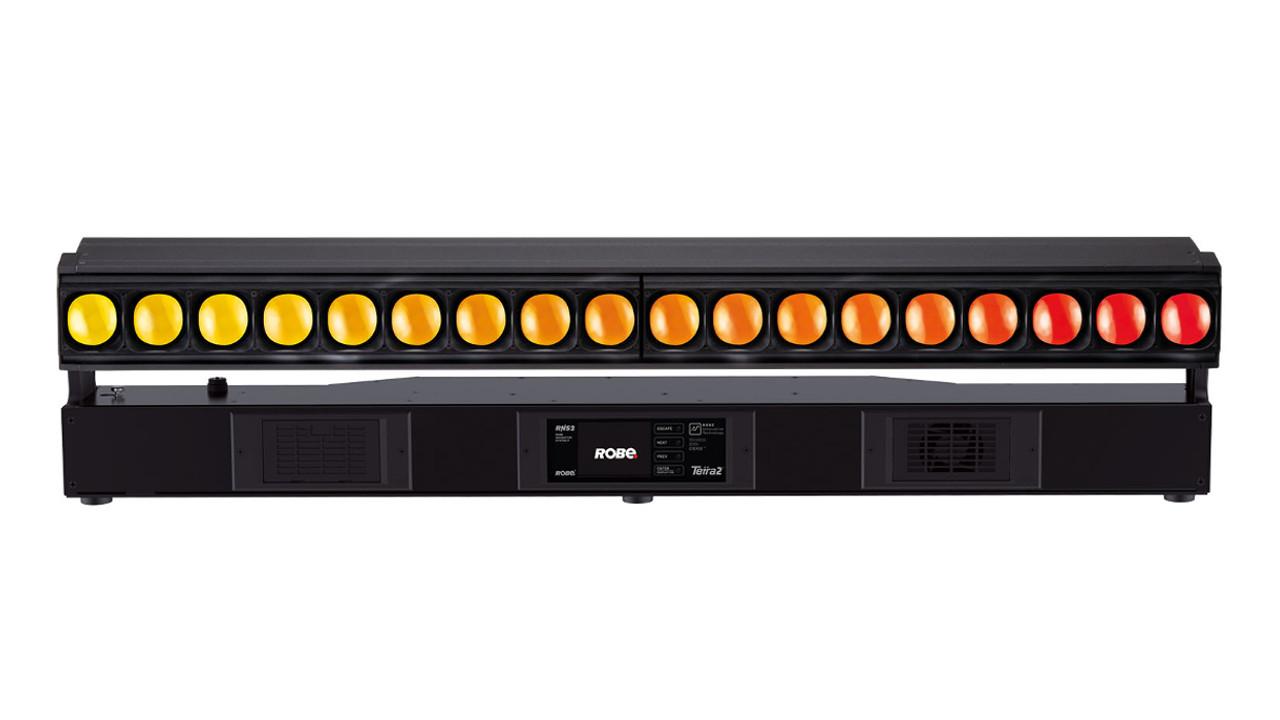 Robe auf der LDI 2019 - Die neue LED-Bar Tetra2, die auf der LED-Technologie des Robe Spiider aufbaut.