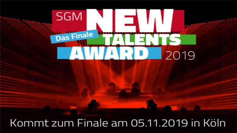SGM New Talents Award 2019 – die drei Finalisten stehen fest!