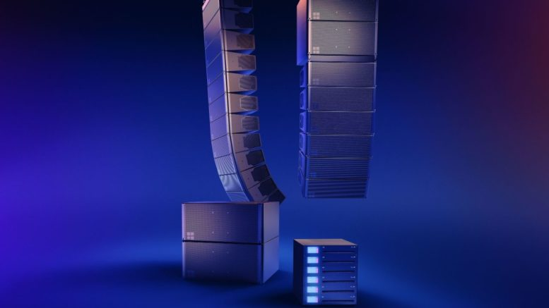 d&b audiotechnik auf der ISE. Das neue installationsspezifische KSLi-System mit dem leistungsstarken 40D Installationsverstärker.