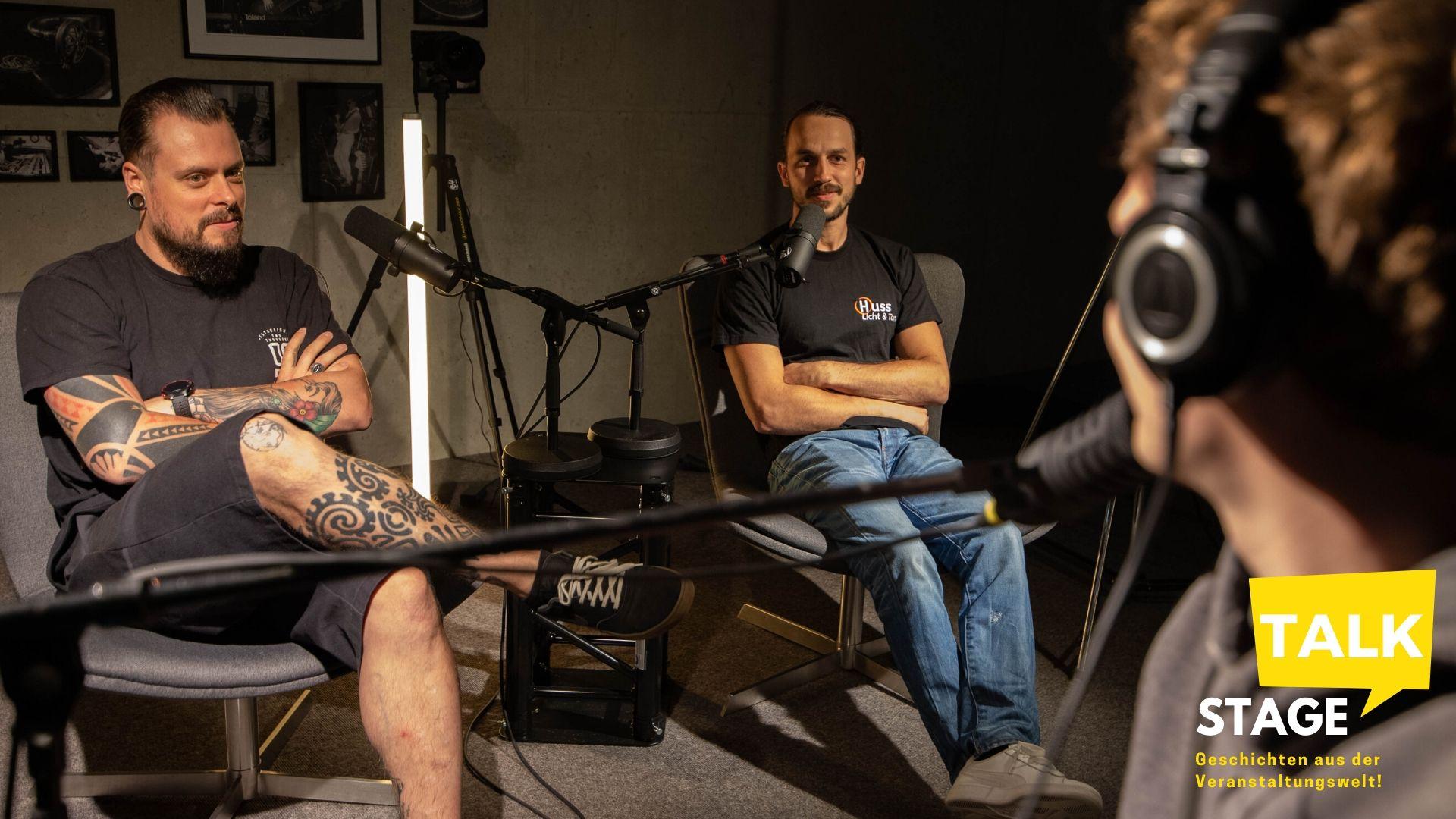 Julian & Sascha von Huss Licht & Ton im stage Talk Podcast Interview