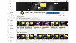 Stage Talk Podcast mit eigenem YouTube Kanal