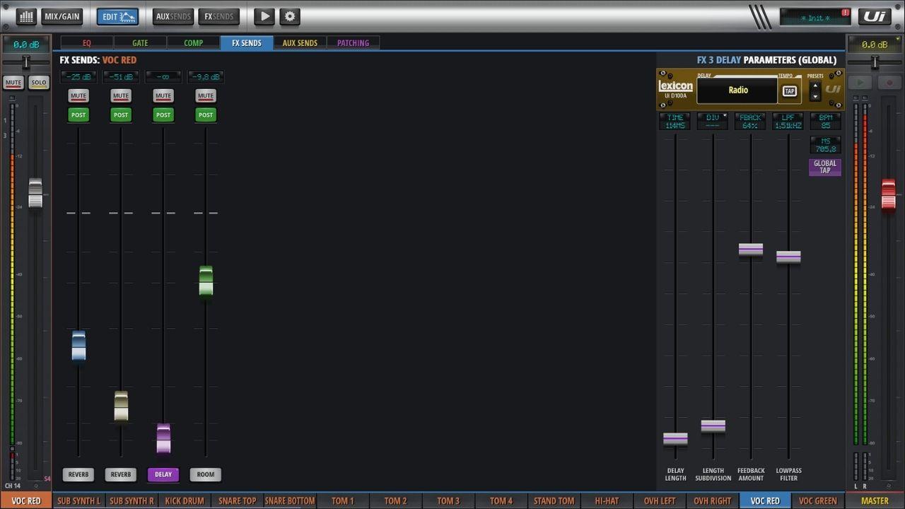 Screenshot der Effekteinstellungen eines Gesangs-Kanals
